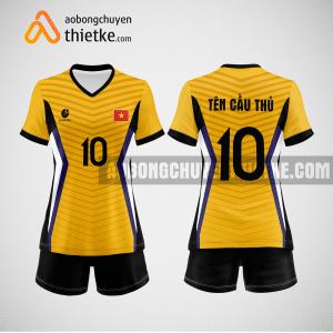 Mẫu quần áo đội tuyển bóng chuyền màu vàng đậm mới nhất BCN513 nữ