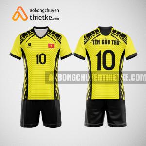 Mẫu quần áo đội tuyển bóng chuyền màu vàng tươi mới nhất BCN512 nam