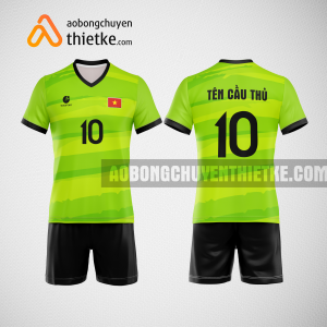 Mẫu quần áo đội tuyển bóng chuyền màu xanh chuối BCN509 nam