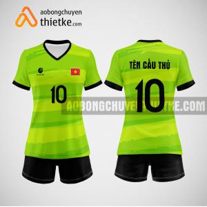 Mẫu quần áo đội tuyển bóng chuyền màu xanh chuối BCN509 nữ