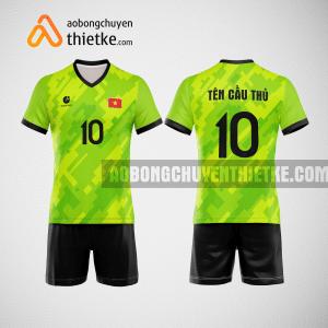 Mẫu quần áo đội tuyển bóng chuyền màu xanh chuối mới nhất BCN510 nam