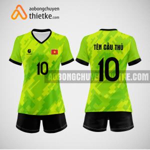 Mẫu quần áo đội tuyển bóng chuyền màu xanh chuối mới nhất BCN510 nữ