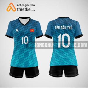Mẫu quần áo đội tuyển bóng chuyền màu xanh ngọc mới nhất BCN511 nữ