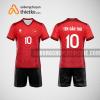 Mẫu quần áo thi đấu bóng chuyền 2022 màu đỏ BCN494 nam