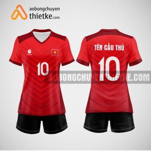 Mẫu quần áo thi đấu bóng chuyền 2022 màu đỏ BCN494 nữ