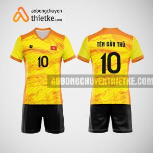Mẫu quần áo thi đấu bóng chuyền 2022 màu vàng BCN495 nam