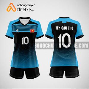 Mẫu quần áo thi đấu bóng chuyền 2022 màu xanh dương BCN496 nữ
