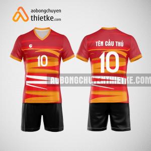 Mẫu quần áo thi đấu bóng chuyền màu đỏ BCN493 nam