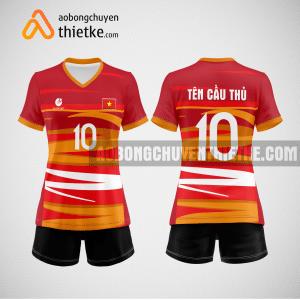 Mẫu quần áo thi đấu bóng chuyền màu đỏ BCN493 nữ